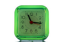 Зеленые часы Стоковое фото RF