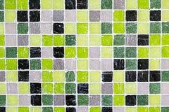 Зеленые, черные и серые плитки мозаики Стоковая Фотография RF
