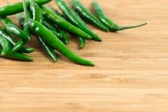 Зеленые чили стоковая фотография