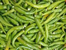 Зеленые чили Стоковое Изображение