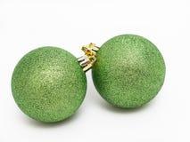Зеленые шарики рождества стоковые изображения