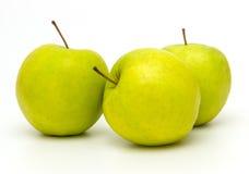 Зеленые яблоки на белой предпосылке Стоковое Фото