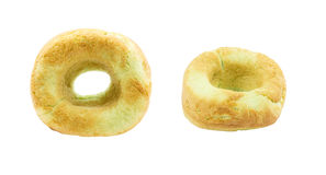 Зеленые donuts изолированные на белой предпосылке Стоковые Фотографии RF