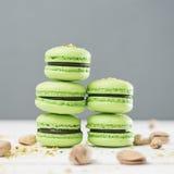 зеленые macaroons Стоковая Фотография RF