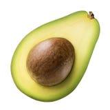 Зеленый авокадо изолированный на белой предпосылке Стоковая Фотография RF