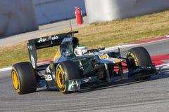 Зеленый автомобиль Формула-1 Стоковое Изображение RF