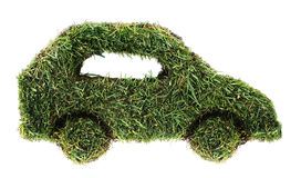 Зеленый автомобиль стоковые фотографии rf