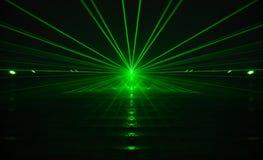зеленый лазер Стоковое Фото