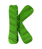 Зеленый алфавит текстуры лист Стоковое Изображение RF