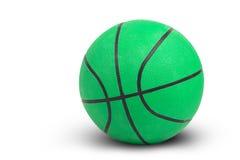 Зеленый баскетбол на белой предпосылке включает путь Стоковое Фото