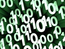Зеленый беспорядок двоичных чисел Стоковая Фотография RF