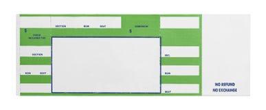 Зеленый билет концерта стоковые изображения rf