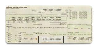 Зеленый билет самолета стоковые изображения rf