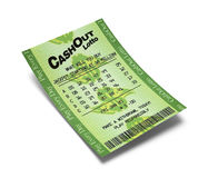 Зеленый билет Lotto Стоковые Фотографии RF