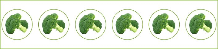 Зеленый брокколи в некоторых пузырях Стоковое Изображение