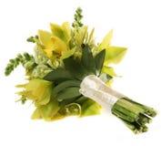 Зеленый букет свадьбы орхидеи Стоковая Фотография RF