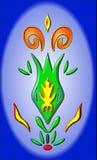 Зеленый бутон цветка делает мотив огня вне Стоковые Изображения