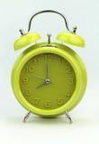 Зеленый будильник, конец вверх Стоковое Фото