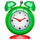 Зеленый будильник Стоковые Фотографии RF