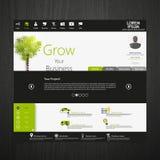 Зеленый вебсайт профессионала eco Стоковое фото RF