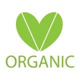 Зеленый вектор eco сердца Стоковые Фотографии RF