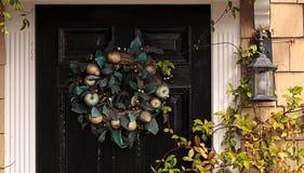 Зеленый венок праздника яблока и груши Стоковое Изображение
