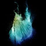 Зеленый взрыв выплеска воздушного шара воды Стоковые Изображения