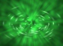 Зеленый взрыв искривления Стоковое Фото