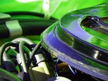 Зеленый винтажный автомобиль, ретро Стоковое фото RF
