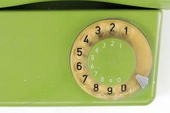 Зеленый винтажный телефонный номер Стоковые Фото