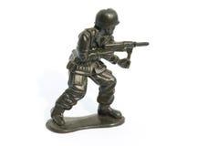 Зеленый воин игрушки Стоковые Изображения