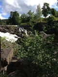 зеленый водопад Стоковое Фото