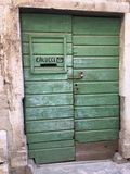 Зеленый вход с шлицем почты Стоковые Фото