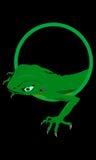 зеленый гад Стоковые Фотографии RF