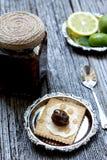 зеленый грецкий орех варенья Стоковое Фото