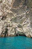 Зеленый грот (Grotta Verde) на острове Капри, Италии Стоковые Фотографии RF