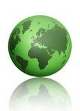 Зеленый глобус атласа мира Стоковая Фотография RF