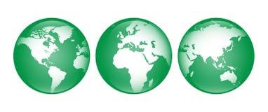 Зеленый глобус Стоковое Изображение