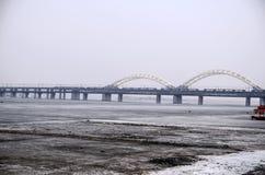 Зеленый железнодорожный мост Стоковые Изображения RF