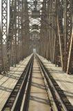 Зеленый железнодорожный мост Torah, стальная конструкция скрещивание Стоковая Фотография RF
