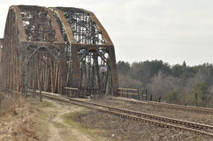 Зеленый железнодорожный мост Torah, стальная конструкция Стоковые Фото