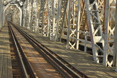 Зеленый железнодорожный мост Torah, стальная конструкция Стоковое Изображение