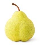 Зеленый желтый плодоовощ груши изолированный на белизне Стоковые Фотографии RF