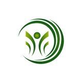 Зеленый заживление значок роста Стоковое Изображение RF