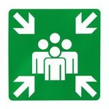 Зеленый знак сборочного пункта Стоковые Фотографии RF