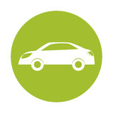 Зеленый значок автомобиля энергии eco иллюстрация штока