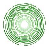 Зеленый значок вектора кругов Стоковая Фотография