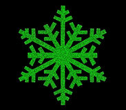 Зеленый значок снежинки Стоковое Изображение RF