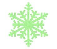 Зеленый значок снежинки Стоковое фото RF