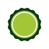 Зеленый значок штемпеля уплотнения Дизайн ярлыка по мере того как вектор свирли предпосылки декоративный графический стилизованны бесплатная иллюстрация